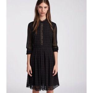 All Saints Lilith Black Lave Sheet Dress 10